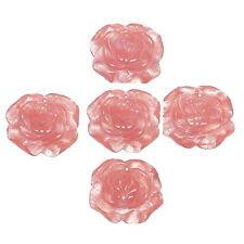 30MM CHERRY QUARTZ ROSE FLOWER BEAD PENDANT - PK/1