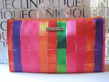 Clinique~HOT PINK & ORANGE RAINBOW Makeup BAG / Zippered Organizer~Pretty! NEW!