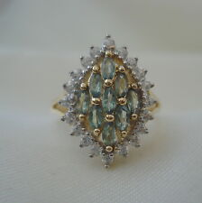 1.20ct Certified Natural Alexandrite & Zircon Gold Ring