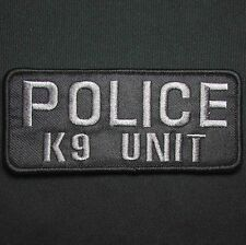 POLICE K9 UNIT GREY BLACK UNIFORM EMBROIDERED TACTICAL PATCH PANEL VELCRO 9X4