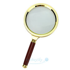 90mm Handheld 10X Magnifier Magnifying Glass Loupe Reading Jewelry book antique