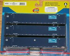 ATHEARN 29351 53' JINDO CONTAINER 3-PACK APL