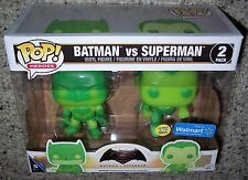 Funko POP Vinyl Walmart Exclusive BATMAN VS SUPERMAN GLOW-IN-THE-DARK 2-Pack