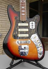 "Kawai ""Hound Dog Taylor"" Style Electric Guitar 1960s VTG   MIJ japan 3 pickups"