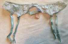 Victoria's Secret Pale Green/Silver Lace Suspender Garter Belt Extra-Small/Small