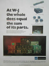 7/1974 PUB WATKINS JOHNSON QRC-249 RECEIVER SYSTEM TUNER TUBE ORIGINAL AD