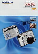 Prospekt Olympus Camedia C-730 Ultrazoom Digitalkamera 9/02 2002 Broschüre broch
