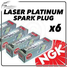 6x NGK SPARK PLUGS Part Number BKR6EQUP Stock No. 3199 New Platinum SPARKPLUGS