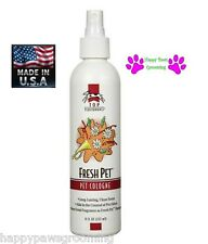 PRO Grooming FRESH PET Dog Puppy Cat Horse Cologne&Deodorant MIST Pump Spray 8oz
