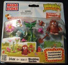 Mega Bloks Moshi Monsters Moshling Garden with Furi 24 Pcs 2011 Mega Brand New