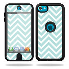 Skin Decal Wrap for OtterBox Defender iPod Touch 5G Case Aqua Chevron