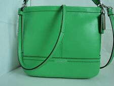 NWT Coach PARK LEATHER MINI DUFFLE GREEN Handbag PURSE F37121. MSR $228