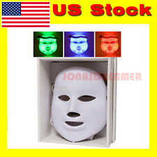 3 color LED Facial Mask Skin Rejuvenation Beauty Photodynamic tender Anti Acne