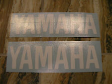 "#354 Pair 6"" Yamaha Logo Motorcycle Drum Snowmobile decal Gloss WHITE"