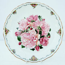 Vintage Royal Albert Plate Queen Mother's Favourite Flowers Albertine Rose
