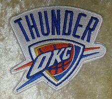 "Oklahoma City OKC Thunder NBA 3.5"" Iron On Embroidered Patch~USA~FREE Ship"
