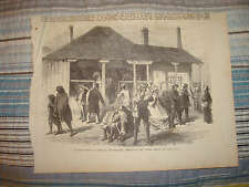ANTIQUE AUCKLAND NEW ZEALAND PRINT ARRIVAL OF MAILS NR