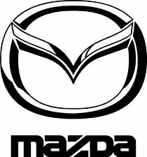 """MAZDA EMBLEM w/ TEXT  6"""" X 5.5""""  VINYL   DECAL  for  $4.99   FREE SHIPPING"""
