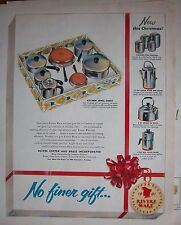 1954 Vintage Revere Ware Copper Brass Inc Kitchen Jewel Chest Miniatures Ad