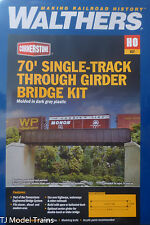 Walthers HO #933-4502 / 70' Single-Track Railroad Through Girder Bridge -- Kit