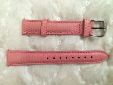 Michele 16mm Pink Coral Genuine Lizard Skin Watch Strap - Made In Italy