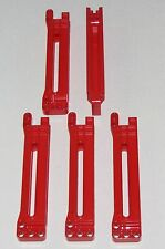 Lego Lot of 5 New Red Technic Gear Rack 1 x 14 x 2 Housing Pieces Parts