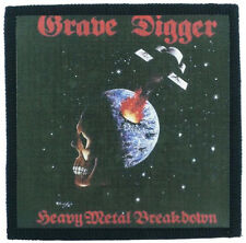 GRAVE DIGGER heavy metal breakdown Toppa (patch10x10)wolf,cauldron,virgin steele