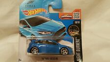 2016 Hot Wheels 16 Ford Focus RS Corto Euro Tarjeta