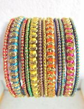 Indian Wedding Bridal Ethnic Fashion Antique Thread 12Pcs Bangles Bracelets 2*4