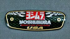 1 x Yoshimura Racing Motocycle Aluminium Decal Muffler Metal Badge Exhaust Plate
