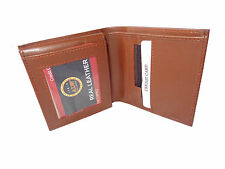 ALW Square Size Stylish Leather Card Wallet - Brown
