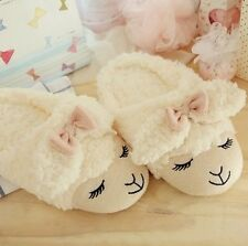 Womens Cute Sheep Animal Cartoon Winter Home Bedroom Warm Cotton Slippers
