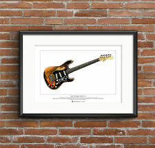 Stevie Ray Vaughan's Stratocaster Number One Ltd Edition Fine Art Print A3 size