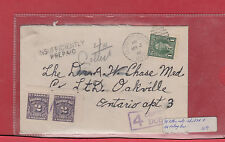 1 cent Mufti INSUFFICIENTLY PREPAID 4c due 1941 Canada cover