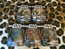 (#1) STAR WARS THE SAGA COLLECTION LOT OF 5 NEW FIGURES holographic cody jango