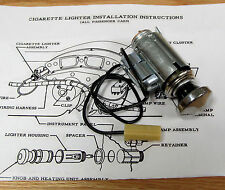 1955 CHEVY CIGARETTE LIGHTER ASSEMBLY WITH LIGHT OPTION and CORRECT WIRING