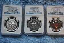 Canada, 2015, $25, Singing Moon Mask Set, NGC,PF70/PF70/PF69, All First Releases