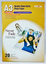SEPOMS DOUBLE-SIDED MATTE Finish Waterproof A3 size Photo Paper 20 Sheets
