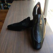 Z ZEGNA MENS LEATHER SHOES LOAFERS SIZE 11 MADE IN ITALY