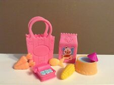 LITTLEST PET SHOP LOT FOOD GROCERIES GROCERY BAG ACCESSORIES ~ FOOD LOT F