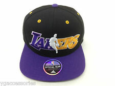 NBA Los Angeles Lakers Adidas Structured Snap Back Cap Hat Style# NJ78Z NEW!