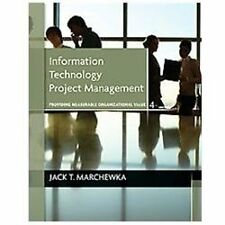 Information Technology Project Management by Jack T. Marchewka (2012 With CD)
