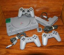 Sony PlayStation PS1 Gray Console (NTSC) Multi Tap, Controllers, & Memory Card