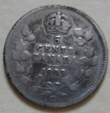 1903 LH (KEY DATE) Canada Silver Five Cents Coin. (RJ70)