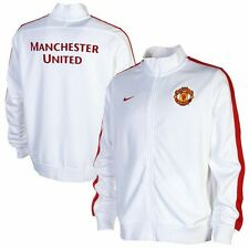 New Nike Men Manchester United N98 Authentic Jacket White/Red 609175-100 M L XL