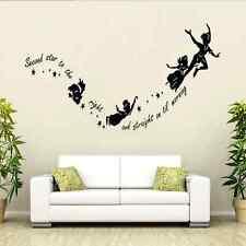 Tinkerbell Star Peter Pan DIY PVC Wall Stickers Decal Kids Room Nursery Mural