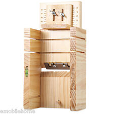 Household Wooden Soap Cutter Box Balancing Apparatus Accurate Wire Cutting