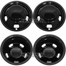 "03-17 DODGE RAM 3500 17"" Dually BLACK Wheel Simulators Dual Skins Liners Covers"