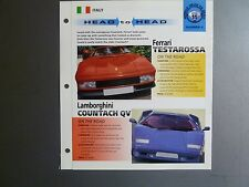 "Ferrari Testarossa vs Lamborghini Countach QV ""Head to Head"" IMP ""Hot Cars"""