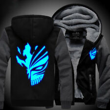 NEW Anime BLEACH Kurosaki ichigo Sweater Hoodie Luminous Unisex Thicken Jacket